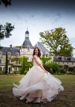 bride at mas de montet south west france
