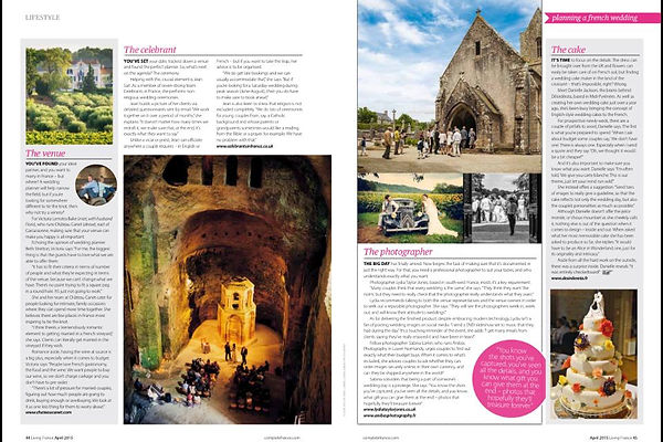 Magazine with wedding in Dordgne South west France by Lydia Taylor Jones