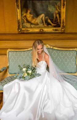 Bride at chateau la durantie