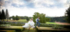bride and groom jumpingWedding photorapher in dordogne south west france and laughing at a