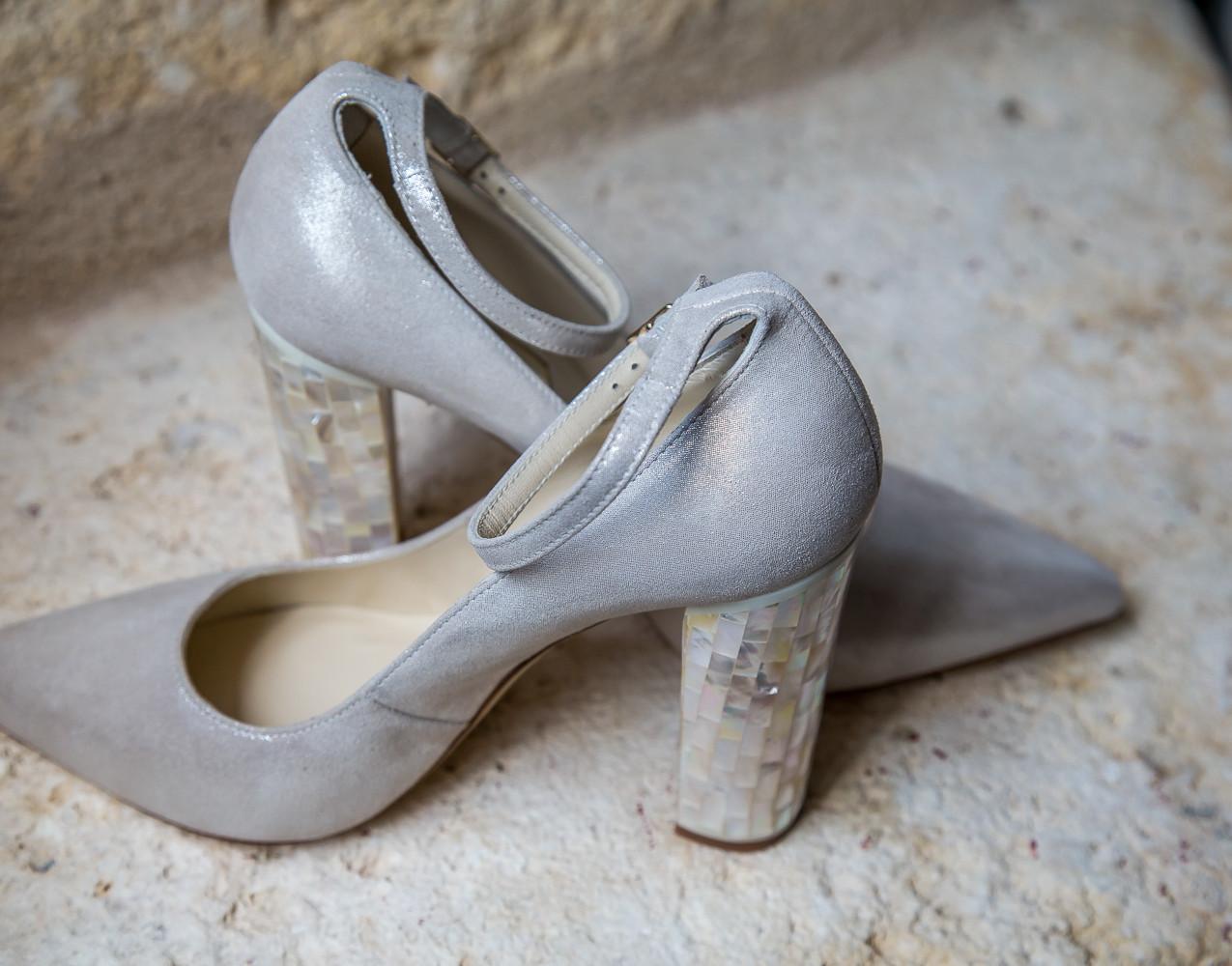 Wedding shoes Chateau de Lerse