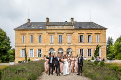 a  wedding photograph at chateau Durauntie south west france