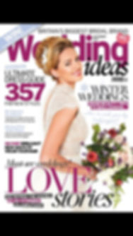 A wedding magazine showing a weddng at Chateau Durantie by Lydia Taylor Jones