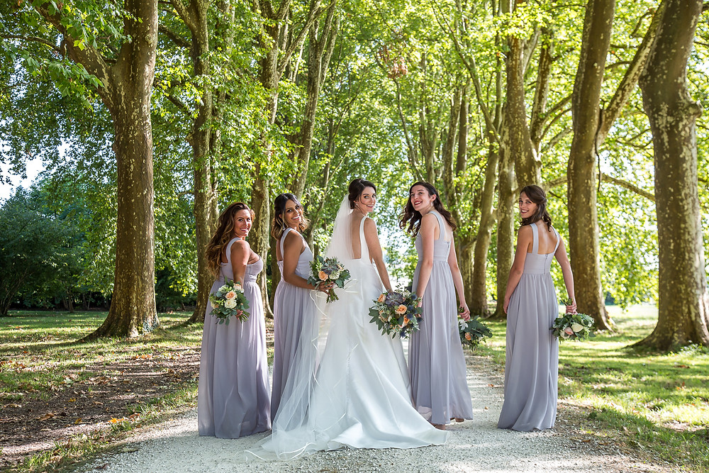 bridesmaids at mas de montet in south west france taken by wedding photographer dordogne