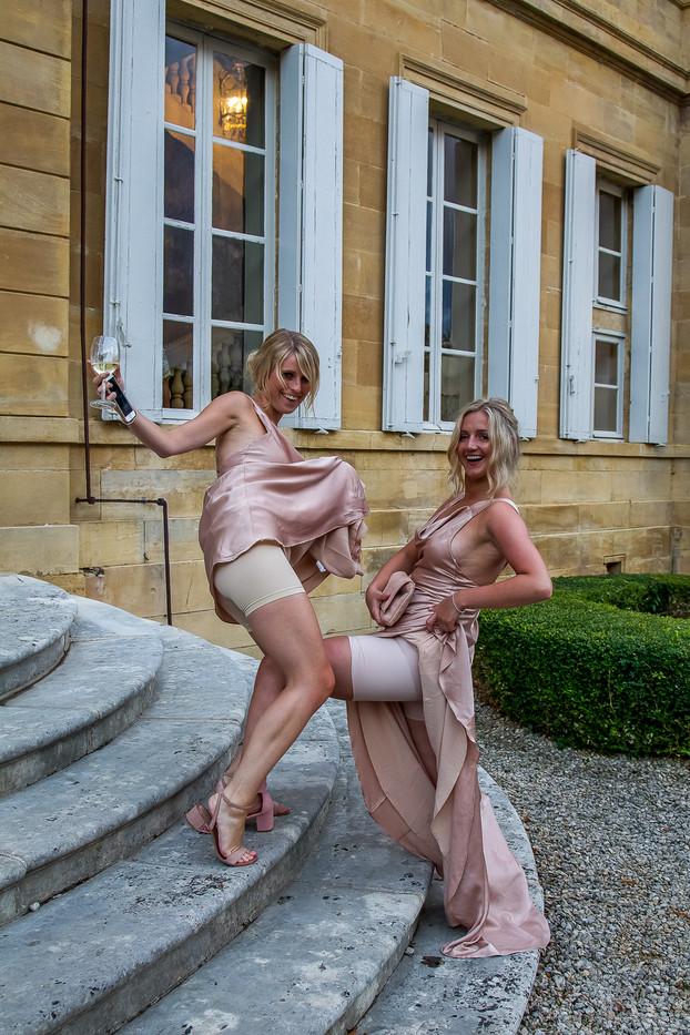 wedding photo at chateau la durantie