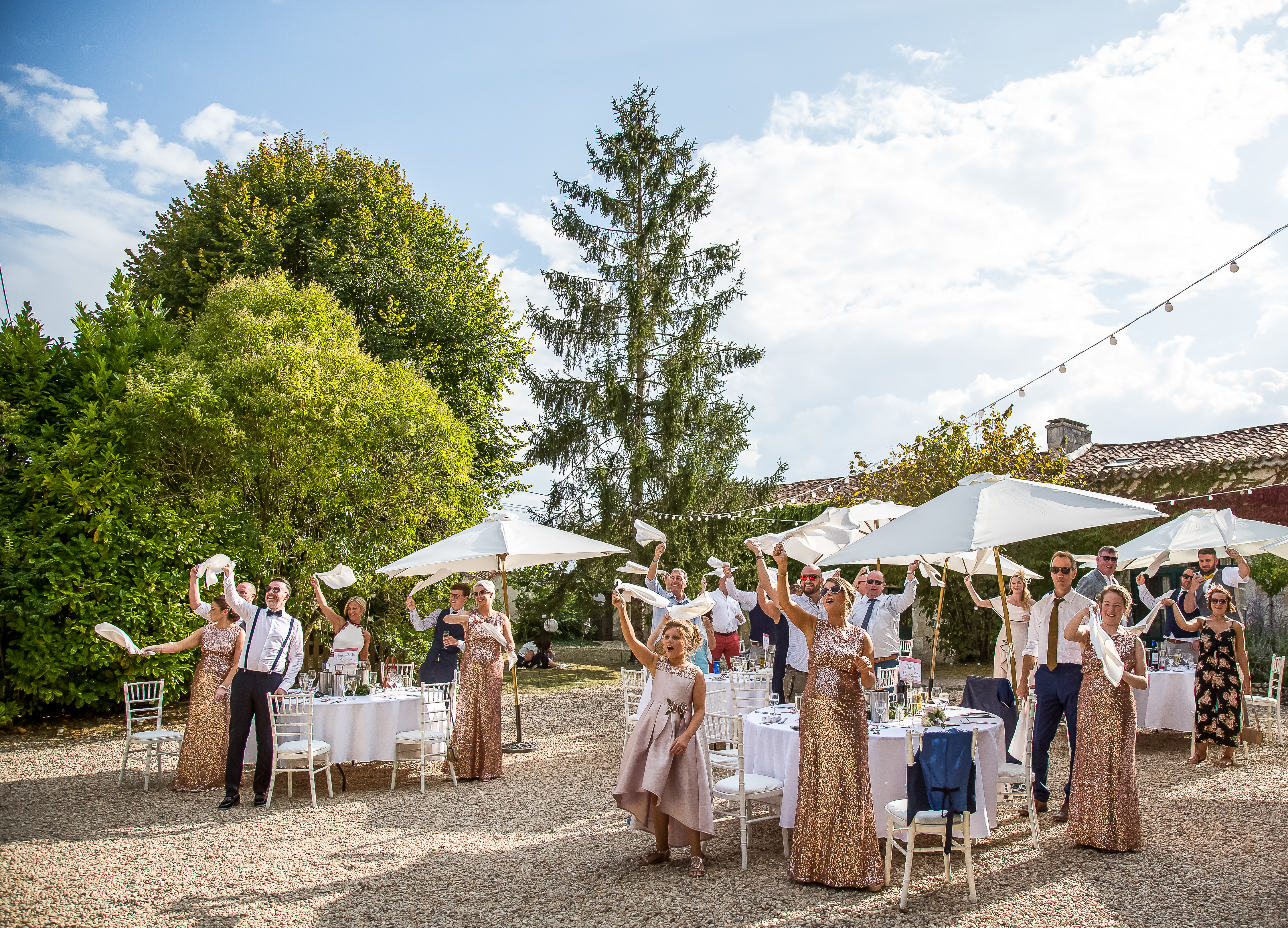 guests at wedding in dordogne