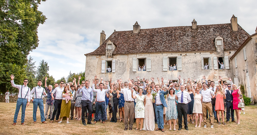 A fun group wedding photograph of all your guests