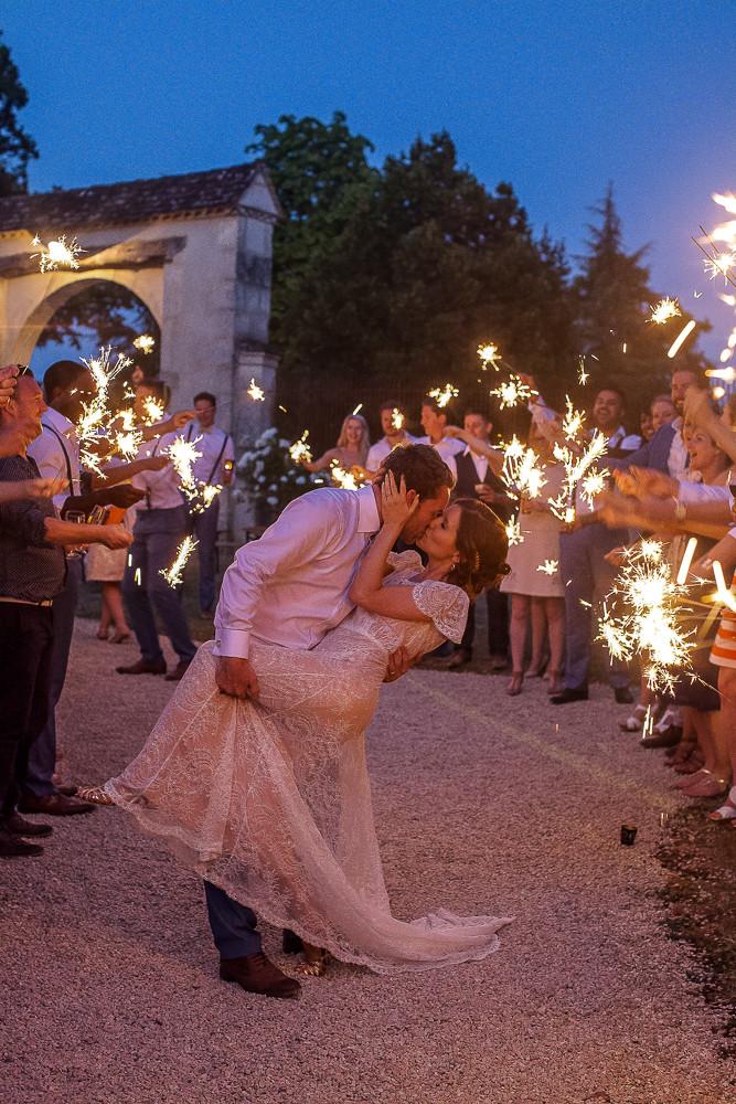 fun sparklers wedding photograph