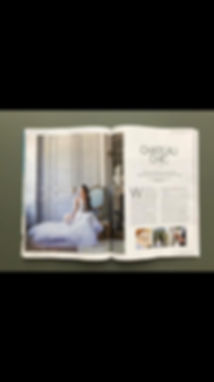 Bridal Mag showing work of Lydia taylor Jones Wedding Photgrapher