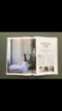 Bridal Mag showing work of Lydia taylor Jones Wedding Photgrapher