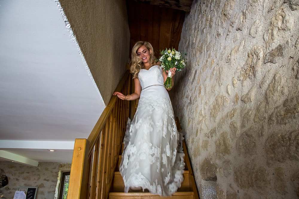 Beautiful bride taken by wedding photographer Dordogne at a Bonne Fete wedding