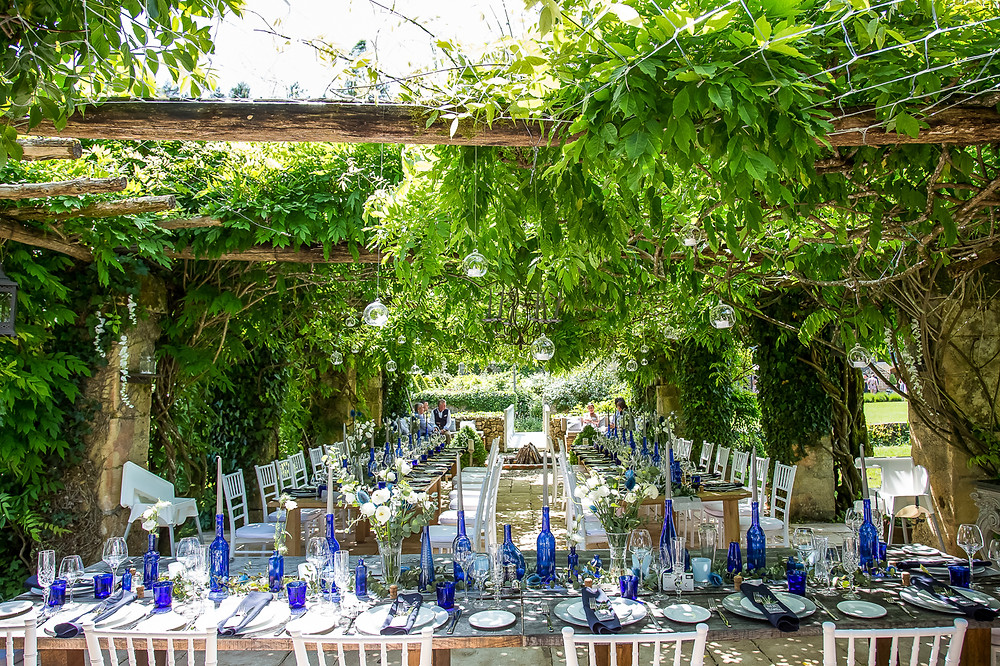 wedding top table at forge du roy