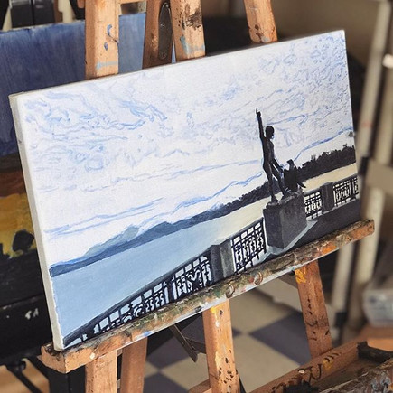 Incredible work of art in the making, happy Wednesday everyone! 👍🏼☀️_•_•_•_#studiopavas #pavas #art #painting #artclass #canvas #artteacher_