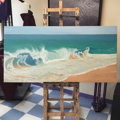 Painting of the day - beautiful work by a talented student! 🎨_•_•_•_#studiopavas #pavas #artist #artclass #artoftheday #artteacher #joesamps