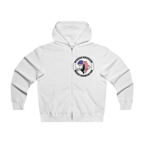 AAMA Men's Lightweight Zip Hooded Sweatshirt
