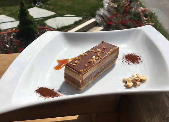 Croquant choco amande/Crunchy choco almond cake