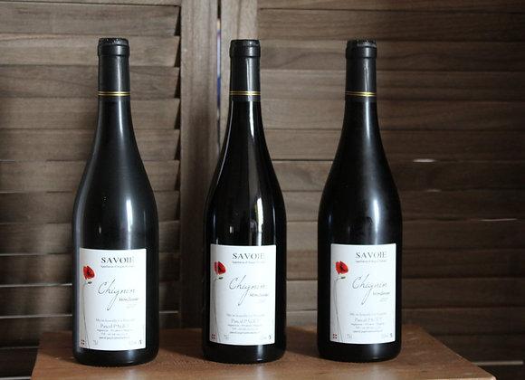 3 bouteilles de Chignin rouge