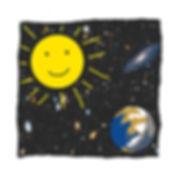Dibuix del Sol i la Terra  by Arcadio Urpí