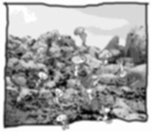 Dibuix dels Manairons carregant pedres by Arcadio Urpí