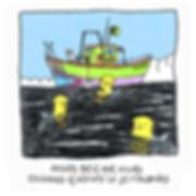 Dibujo - El Explorador desde un barco estudiando el instino de los Tibuzones con un sobre