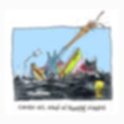 Dibujo - El Explorador sale volando de su barco cuando un Palamar gigane lo ataca