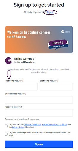 How to hopin deelnemers Online congres a