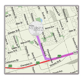 Map of Whitby Medspa location
