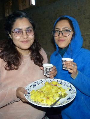 Meal Break at Health Camp