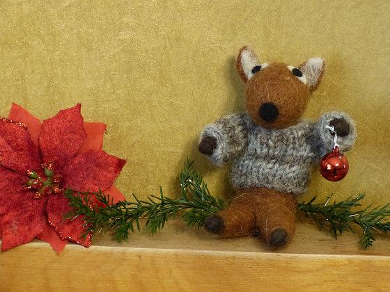 Deer in Sweater Ornament