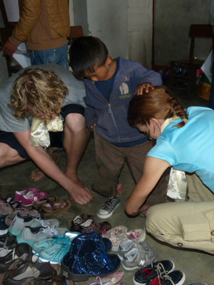Shoe Fitting in Langtang