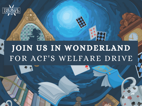 Join us in Wonderland for ACF's Welfare Drive!