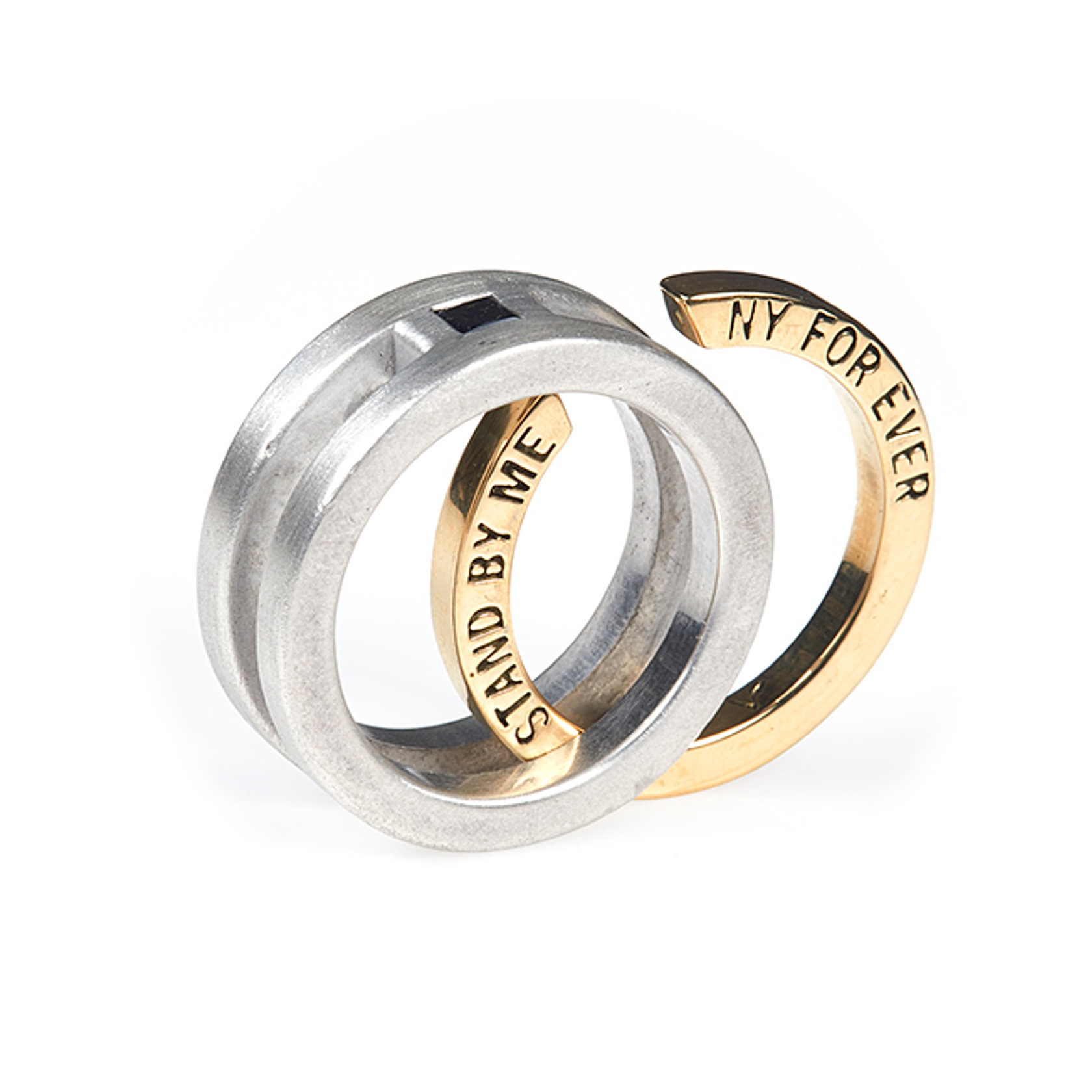 ambrosio wedding enement - Interlocking Wedding Rings