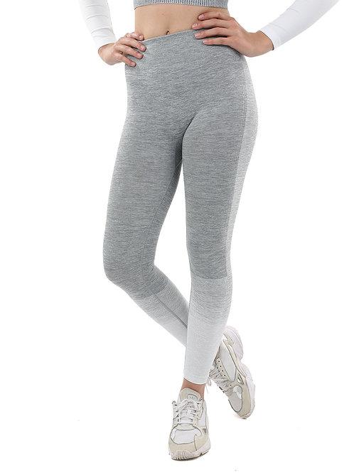Bocana Seamless Leggings - Grey & White