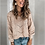 Thumbnail: Sweater Ladies Crew Neck Cutout Knitted Jumper Pullover