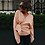 Thumbnail: WOTWOY Lace Up v Neck Cross Winter Knitted Sweaters Women Off-Shoulder Pink