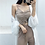 Thumbnail: Sexy Women Drawstring Knitted Tank Top Solid All Match Casual Short Camis