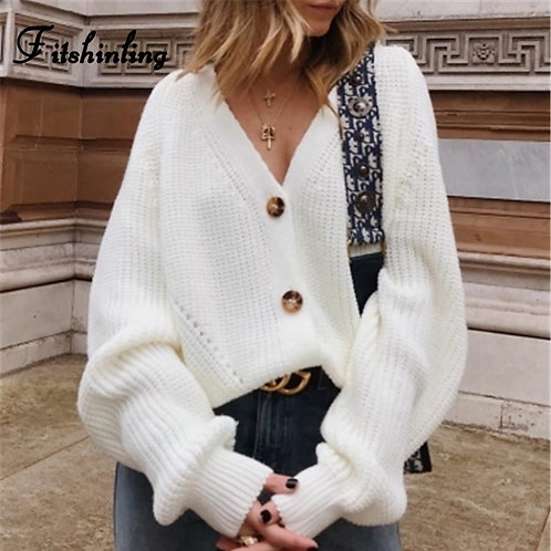 Fitshinling Buttons Up Sweater Cardigan