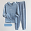 Thumbnail: Coral Fleece Pajama Set Women Thick  Flannel Velvet  Two Pieces Sleepwear Suit