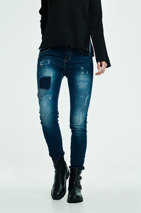 Deconstructed Jeans in Indigo