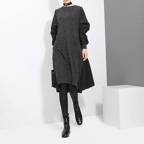 Thirtea Pleat Back Dress - Black