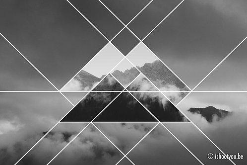 Triangle Mountains - wall art