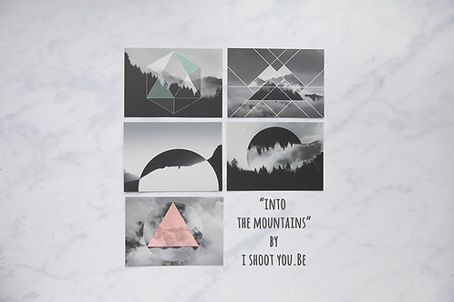 "5 Wenskaarten ""Into the mountains"""