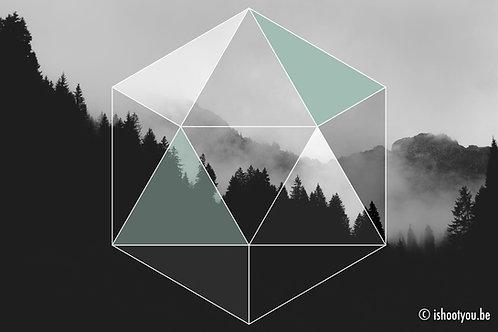 Hexagon mountain - wall art