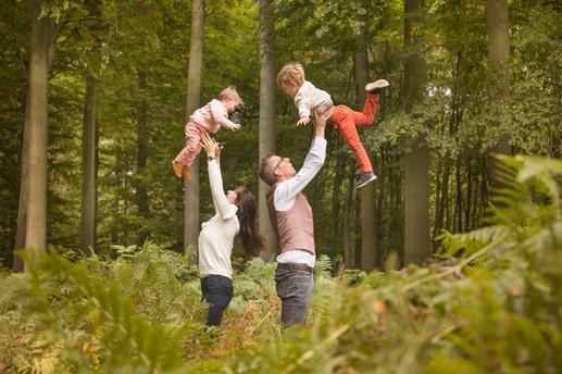 Fotografie gezin in Buggenhout bos