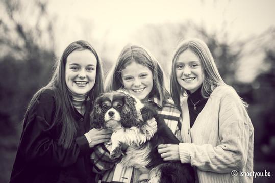 Portret tieners zussen