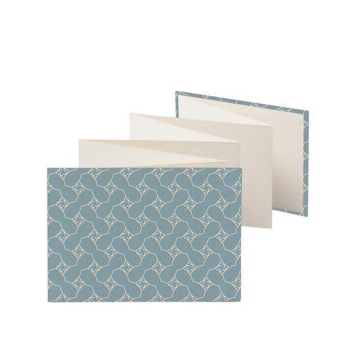 Accordeon fotoboekje blauw