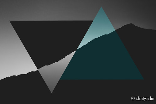 Triangles on Mountain - wall art