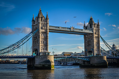 Tower Bridge, London (with airplane)