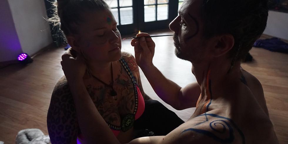 Dj Karmakaaja Ecstatic Dance Speciál I Body painting I Živá hudba I 5.6. - Praha (Golden Temple)