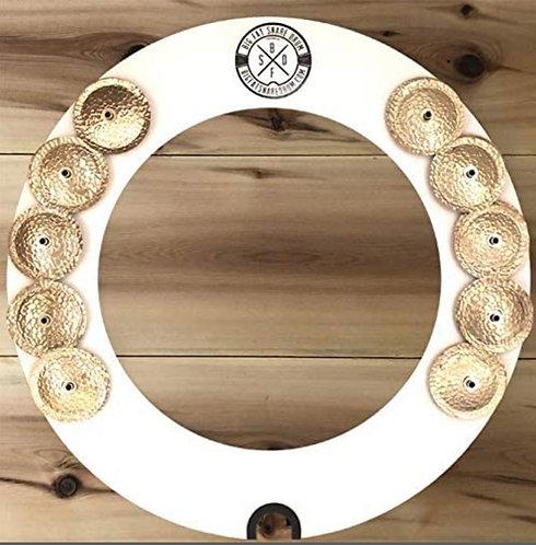 Big Fat Snare Drum Halo Ring White Copper